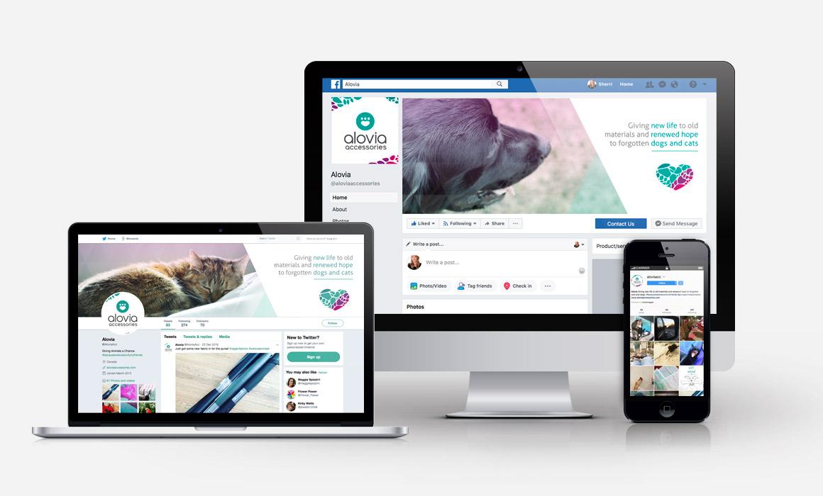 Alovia - Social Media